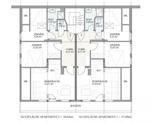 Appartement Grundplan